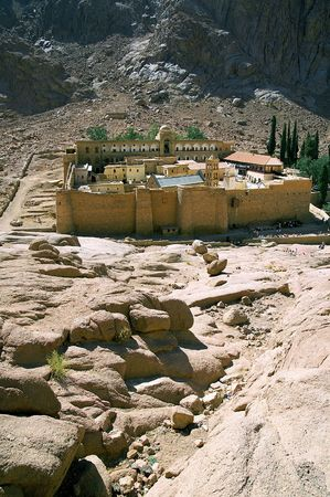 monasteries: Saint Catherines Monastery, one of the oldest continuously functioning Christian monasteries in the world, Sinai Peninsula, Egypt