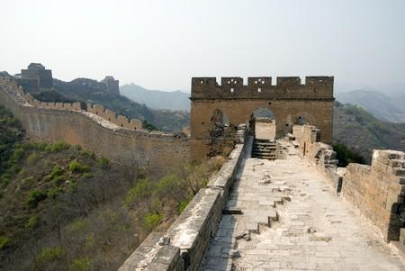 Ruined tower of famous Great Wall at Simatai near Beijing, China photo