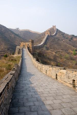 near: Famous great wall at Simatai near Beijing, China Stock Photo