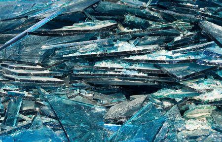 Broken blue glass background Stock Photo - 4474430