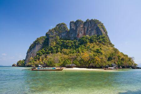 Tropical island of Andaman sea, Krabi province, Thailand Stock Photo - 4474334
