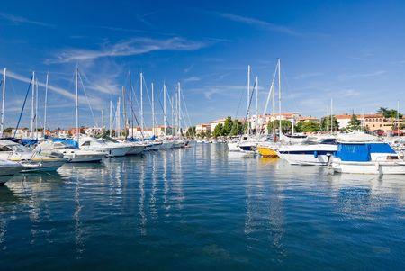 Marina du port de Porec, Croatie