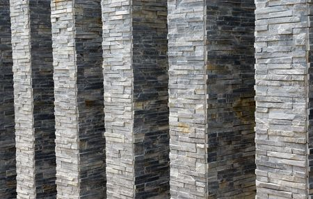 Decorative stone wall texture photo