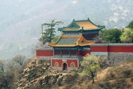hebei: Buddhist temple at Mountain resort near Chengde, Hebei province, China