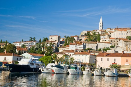 Marina and historical center of Vrsar, Istria, Croatia photo
