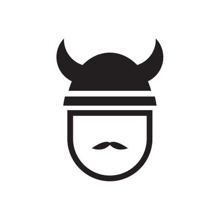 viking vector icon design