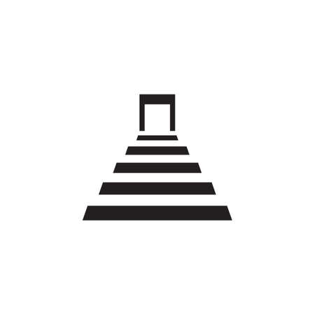 stairs vector icon logo design