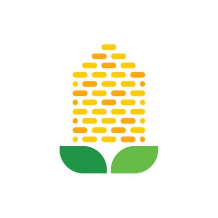 corn vector icon logo design