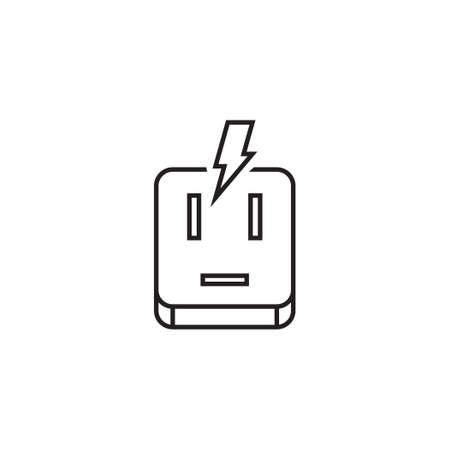 surge protector vector icon logo design