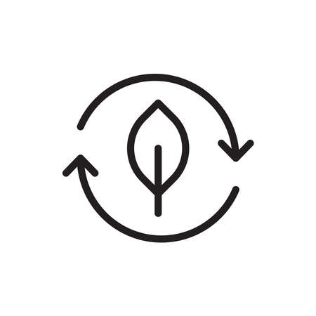 eco recycle vector icon logo design