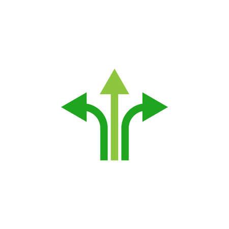 three way direction vector icon logo design