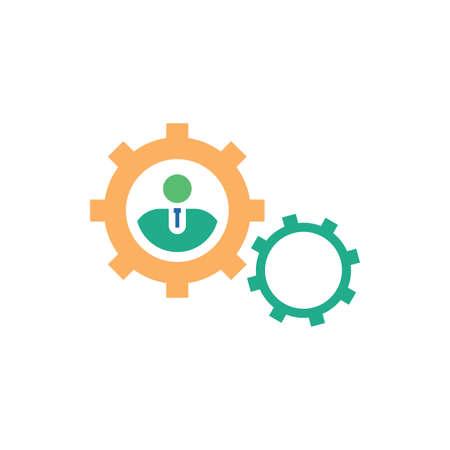 human resource vector icon logo design Logo