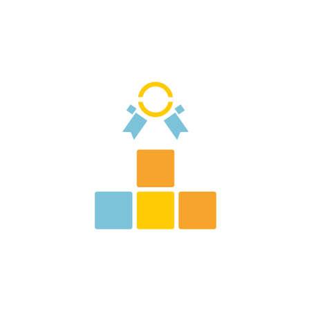 ranking vector icon logo design