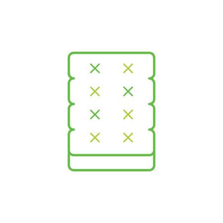 mattress vector icon logo design
