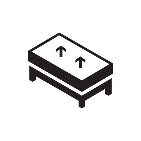 mattress vector icon logo design Logo