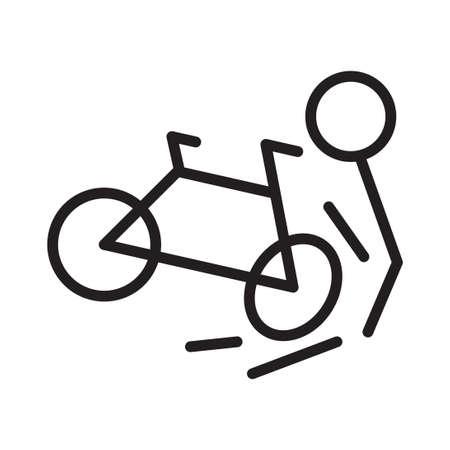 accident vector icon logo design