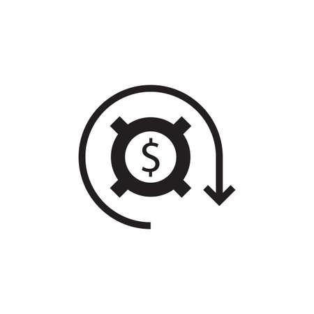 cost optimization vector logo design template