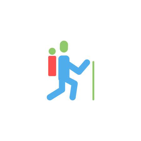 trekking vector icon design template 向量圖像