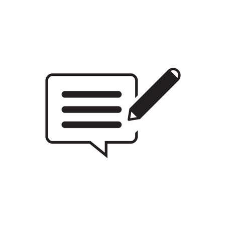 writing feedback vector icon design template Stock Illustratie