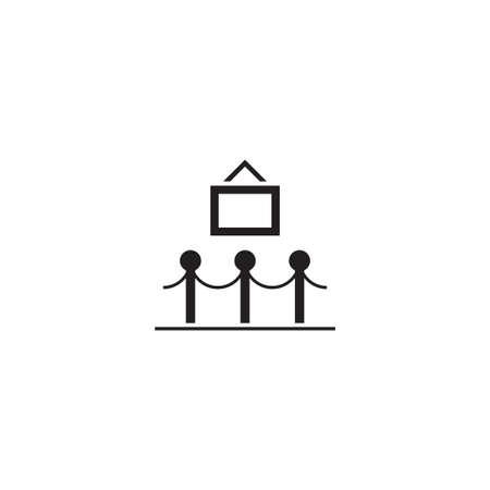 exhibition vector icon design template