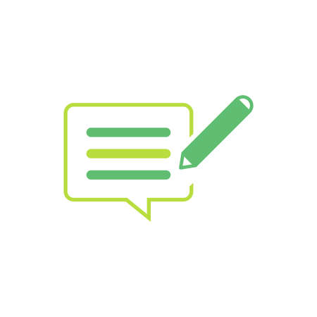 writing feedback vector icon design template