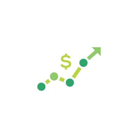 increase revenue vector icon design template