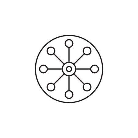 multi channel vector icon design template