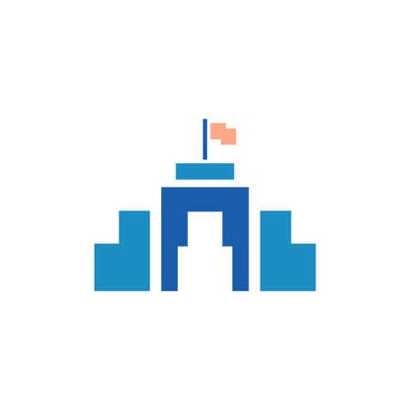 city hall vector icon design template