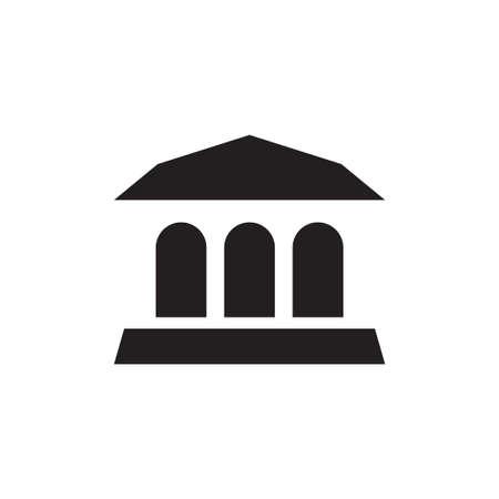 museum vector icon design template