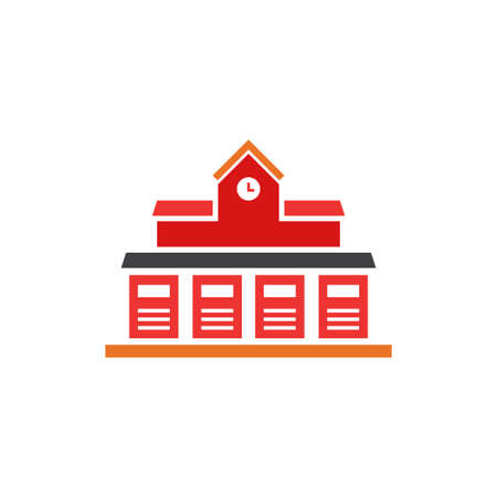 fire station vector icon design template