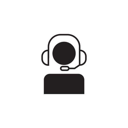 call center vector icon design template