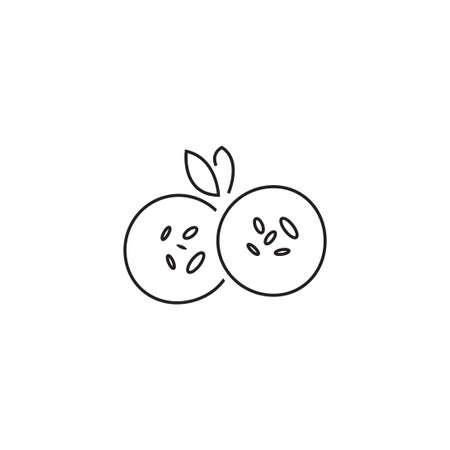 falafel vector icon design template