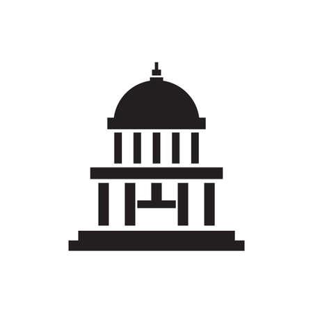 capitol building vector icon design template