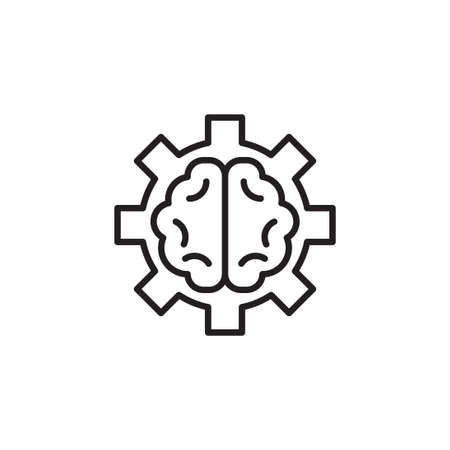 brain work vector icon design template