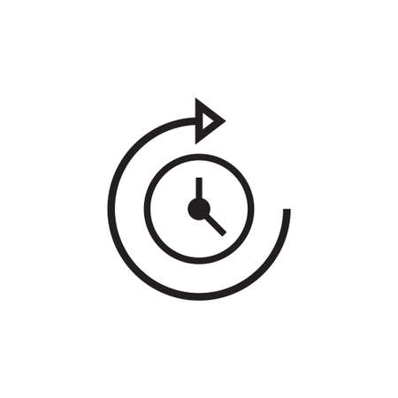 passage of time vector icon design template Vektorové ilustrace