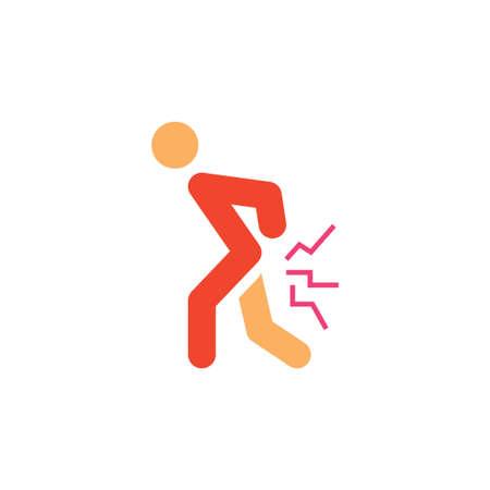 body pain vector icon design template