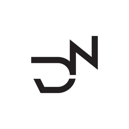 dn initial letter vector icon