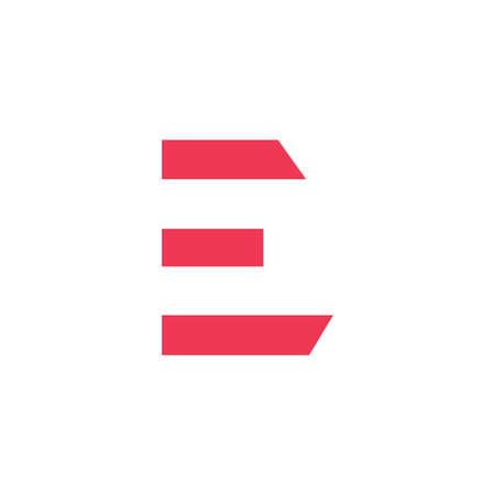 e initial letter vector logo icon