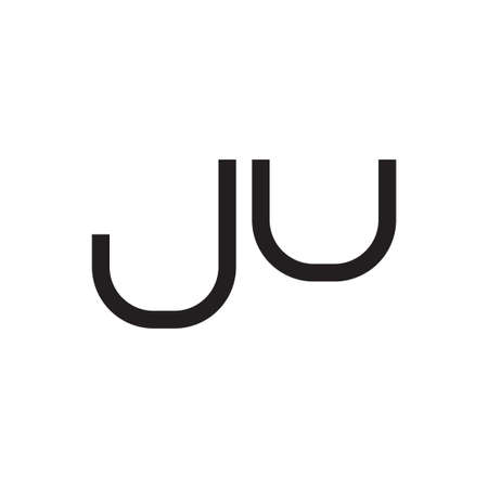 ju initial letter vector logo icon
