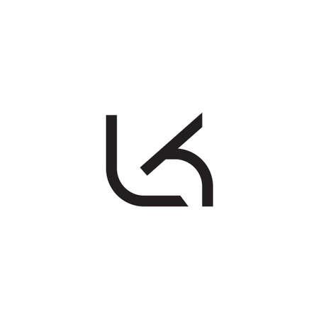 lk initial letter vector logo icon
