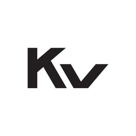 kv initial letter vector logo icon Logó