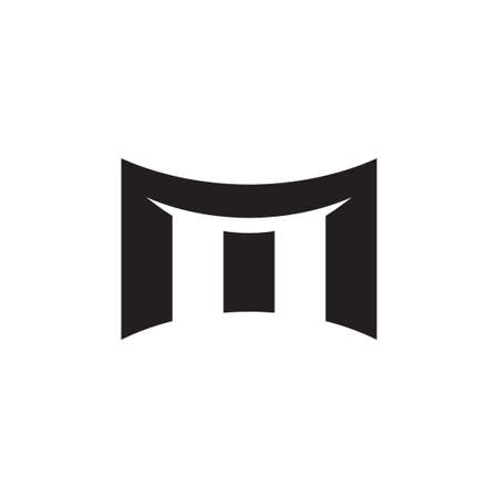m initial letter vector logo icon