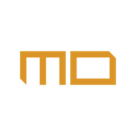 mo initial letter vector logo icon