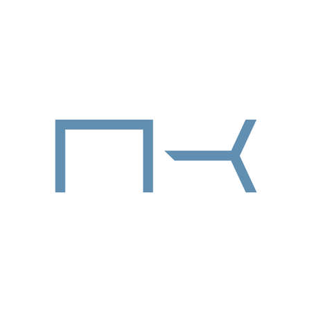 nk initial letter vector logo icon