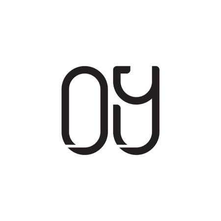 oy initial letter vector logo icon Ilustração