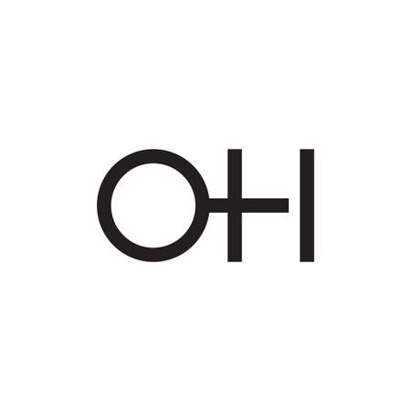 oh initial letter vector logo icon