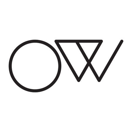 ow initial letter vector logo icon