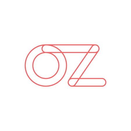 oz initial letter vector logo icon Ilustração
