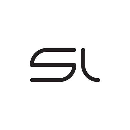 sl initial letter vector icon Vektoros illusztráció