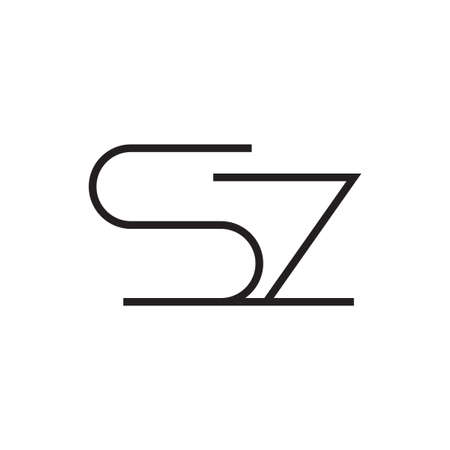 sz initial letter vector icon